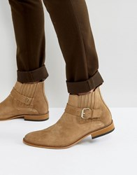 House Of Hounds Adrian Suede Buckle Boots In Tan Tan