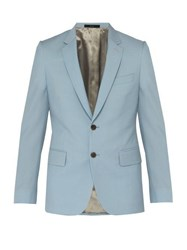 Paul Smith Soho Tailored Fit Wool And Mohair Blend Jacket Light Blue