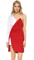 Jacquemus Red Horse Dress White Red