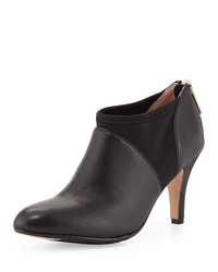 Tonga Leather Ankle Bootie Black Taryn Rose
