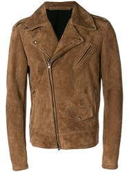 Salvatore Santoro Biker Jacket Brown