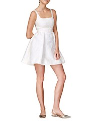 Cynthia Rowley Jacquard Fit And Flare Dress Ivory
