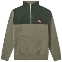 Maison Kitsune Fleece Zip Sweat Green