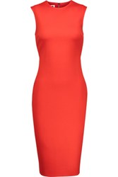 Mcq By Alexander Mcqueen Cutout Ponte Dress Tomato Red
