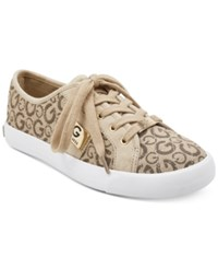 G By Guess Backer Lace Up Sneakers Women's Shoes Taupe