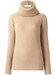 Antonia Zander High Neck Jumper Nude And Neutrals