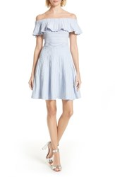 Ted Baker Women's London Dilpree Off The Shoulder Skater Dress Pale Purple