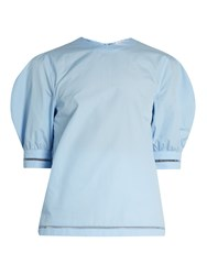J.W.Anderson Puff Sleeved Cotton Top Blue