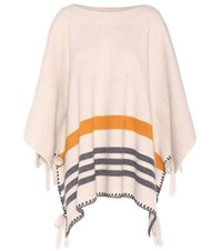 Chloe Wool And Cashmere Poncho White