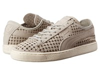 Puma Suede Courtside Perf Gray Violet Men's Lace Up Casual Shoes White