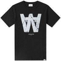 Wood Wood Aa Crack Tee Black