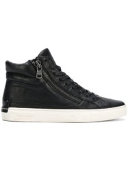 Crime London Hi Top Sneakers Black