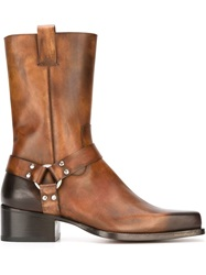 Dsquared2 Square Toe Boots Brown