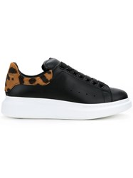 Alexander Mcqueen Animal Heel Sneakers Men Leather Rubber 43 Black