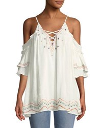 Red Carter Embroidered Swim Coverup Dress Ivory