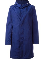 Mackintosh Buttoned Up Raincoat Blue