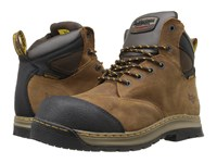 Dr. Martens Work Deluge Electrical Hazard Waterproof Steel Toe 6 Eye Boot Brown Overlord Waterproof Men's Lace Up Boots