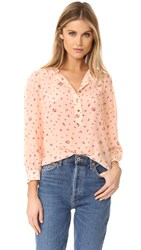 Rebecca Taylor Long Sleeve Mia Top Ballet