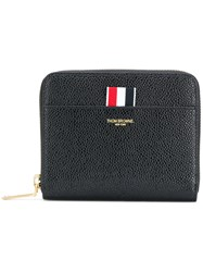 Thom Browne Short Zipped Purse Calf Leather Black