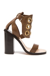 By Malene Birger Subki Leather Heels In Brown