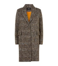 Set Tweed Check Coat Beige
