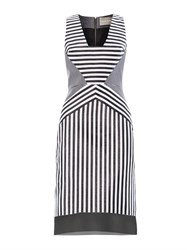 Richard Nicoll Contoured Striped Jacquard Dress