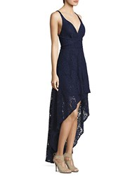 Laundry By Shelli Segal Hi Lo Lace Gown Ink Blot