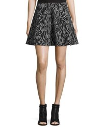 Opening Ceremony Laurel Swirl Flare Skirt Black