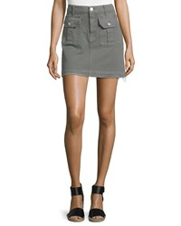 7 For All Mankind Utility Pocket Mini Skirt Moss Green