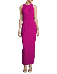 Js Collections Solid Cutout Column Gown Orchid