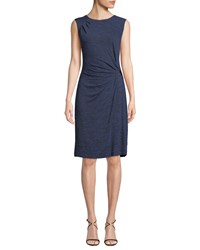 Nic Zoe Every Occasion Melange Knit Twist Dress Petite Mineral