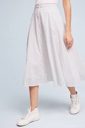 Anthropologie Cannes Midi Skirt White