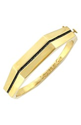 Women's Louise Et Cie Pave Hinged Bangle Gold Black