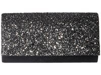 Jessica Mcclintock Chloe Glitter Flap Clutch Pewter Clutch Handbags