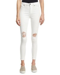 Cheap Monday Spray On High Rise Skinny Jeans White