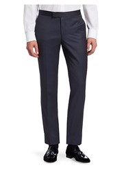 Saks Fifth Avenue Modern Tuxedo Wool Trousers Navy