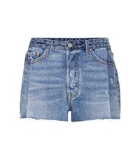 Grlfrnd Cindy Cut Off Jean Shorts Blue