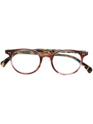 Oliver Peoples 'Delray' Glasses Red