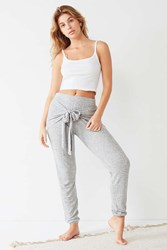 Out From Under Luisa Tie Front Jogger Pant Grey