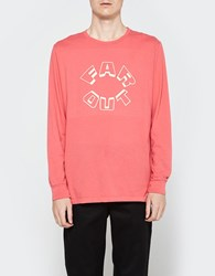 Surf Is Dead Far Out Long Sleeve Tee Coral