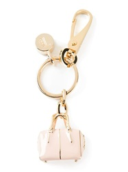 Tod's 'D Cube' Pendant Keyring Pink And Purple
