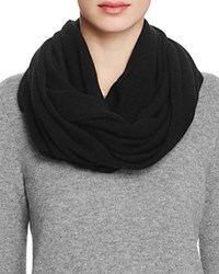 Bloomingdale's C By Angelina Cashmere Solid Loop Scarf Black