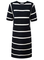 Henri Lloyd Liv Striped Knit Dress Navy