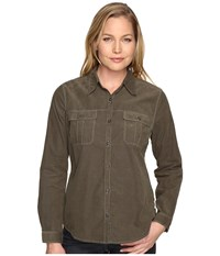 Royal Robbins Cascade Cord Long Sleeve Laurel Women's Long Sleeve Button Up Green