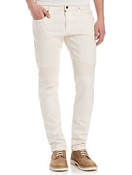 Goodwood Sports And Racing By Belstaff Slim Fit Moto Jeans Natural White