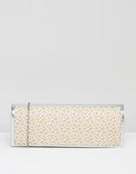 Lotus Clutch Bag With Mesh Detail Silver Mesh Shiny