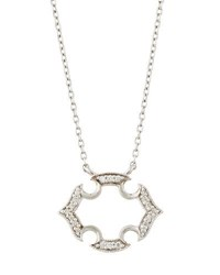 Jude Frances Malta 18K White Gold Diamond Pendant Necklace