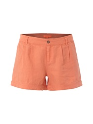White Stuff Lottie Linen Shorts Orange