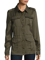 Saks Fifth Avenue Four Pocket Army Jacket Bleached Olive