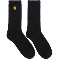 Carhartt Work In Progress Black And Gold Chase Socks